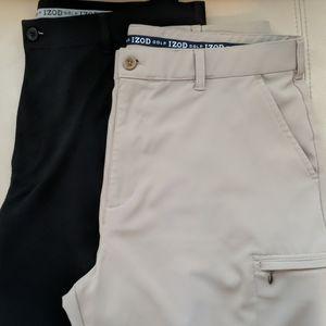 Men's lot of 2 Izod golf shorts 36 like new
